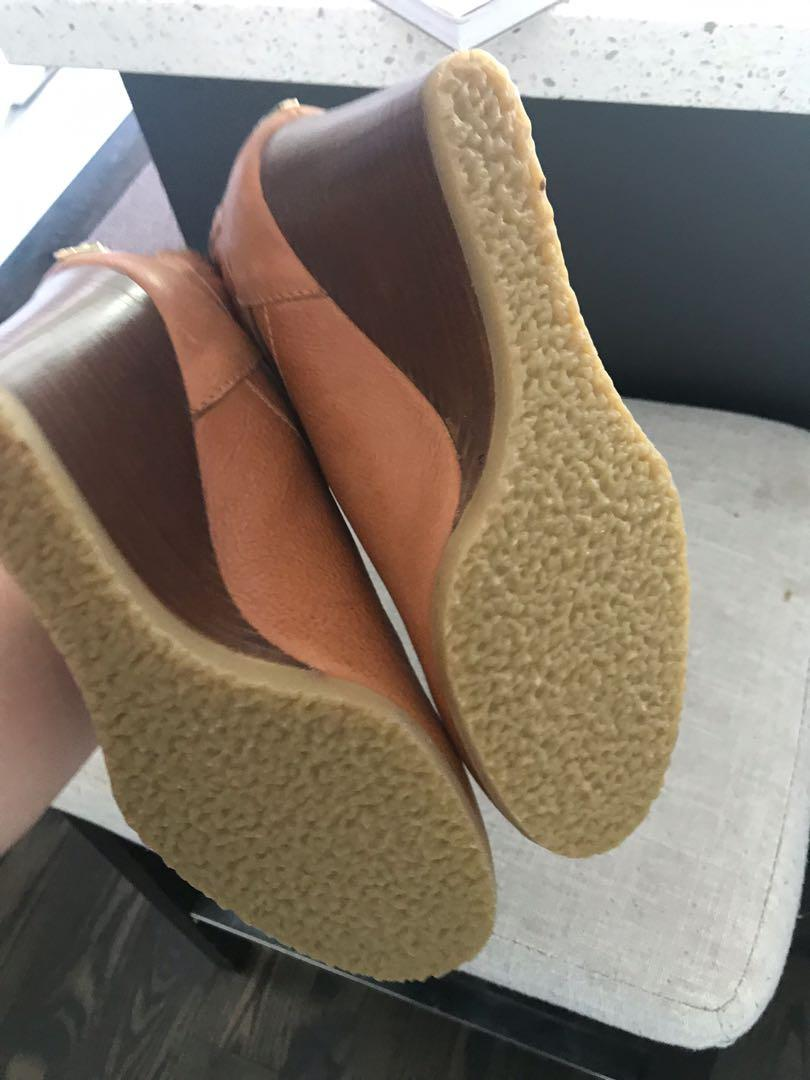 Like new - never worn - JCrew made in Italy ankle wedges