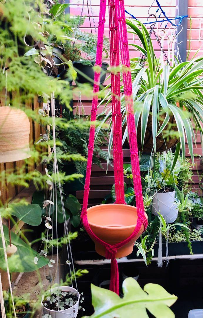Macrame Hanger/ Plant Hanger/ Cotton Cord/ Boho Decor Style/ Cotton Cord