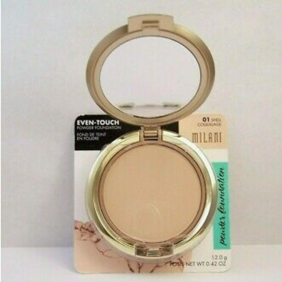Milani Even Touch Powder Foundation 01 Shell Health Beauty Makeup On Carousell