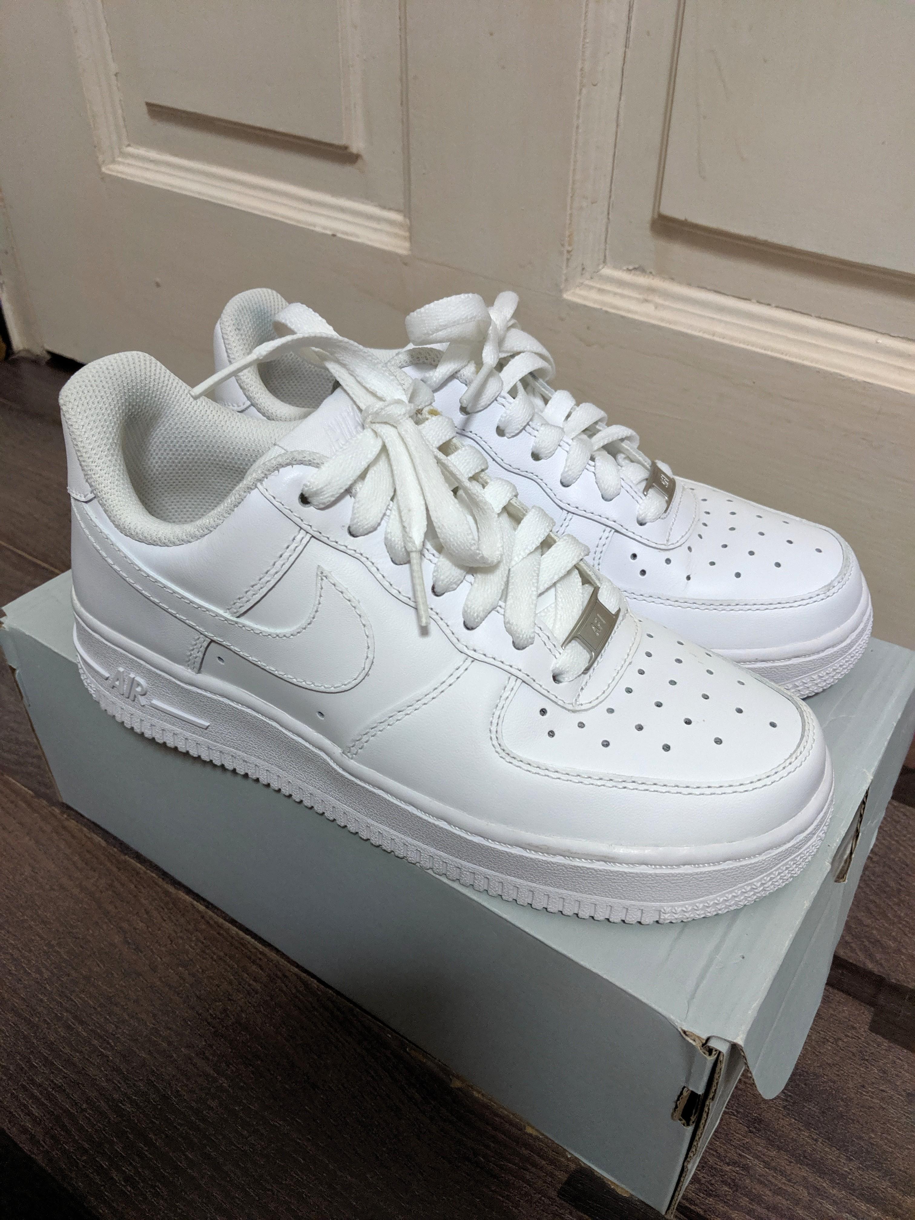 the latest 78e76 313cc Nike Air Force 1 White (Original with box), Women's Fashion ...