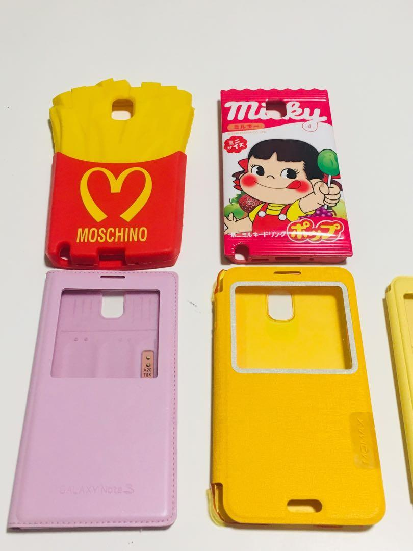 Note 3 cases flip phone back Moschino French fries, Milky