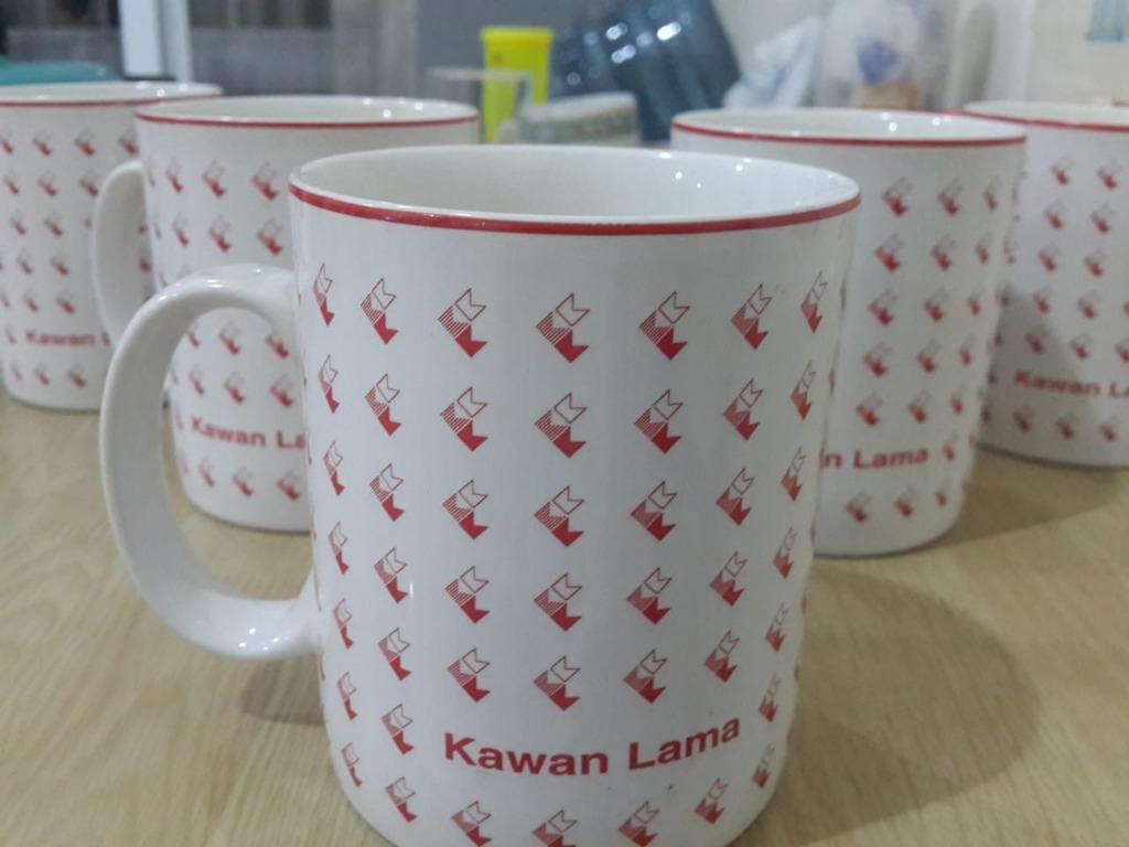 Paket Gelas Mug Keramik Motif Kawan Lama (5 Pcs)