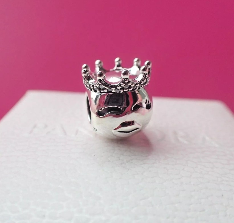 Pandora Bead Princess Emoji Charm on Carousell