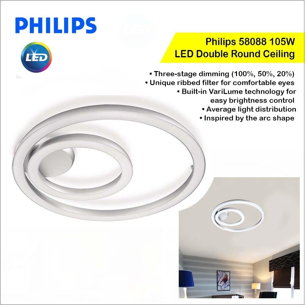 Philips Double Round Ceiling Light Orbit On Carousell