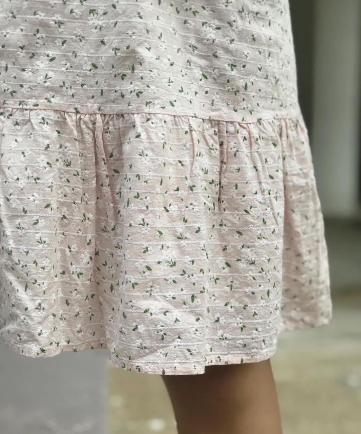 pink floral shift dress with pockets