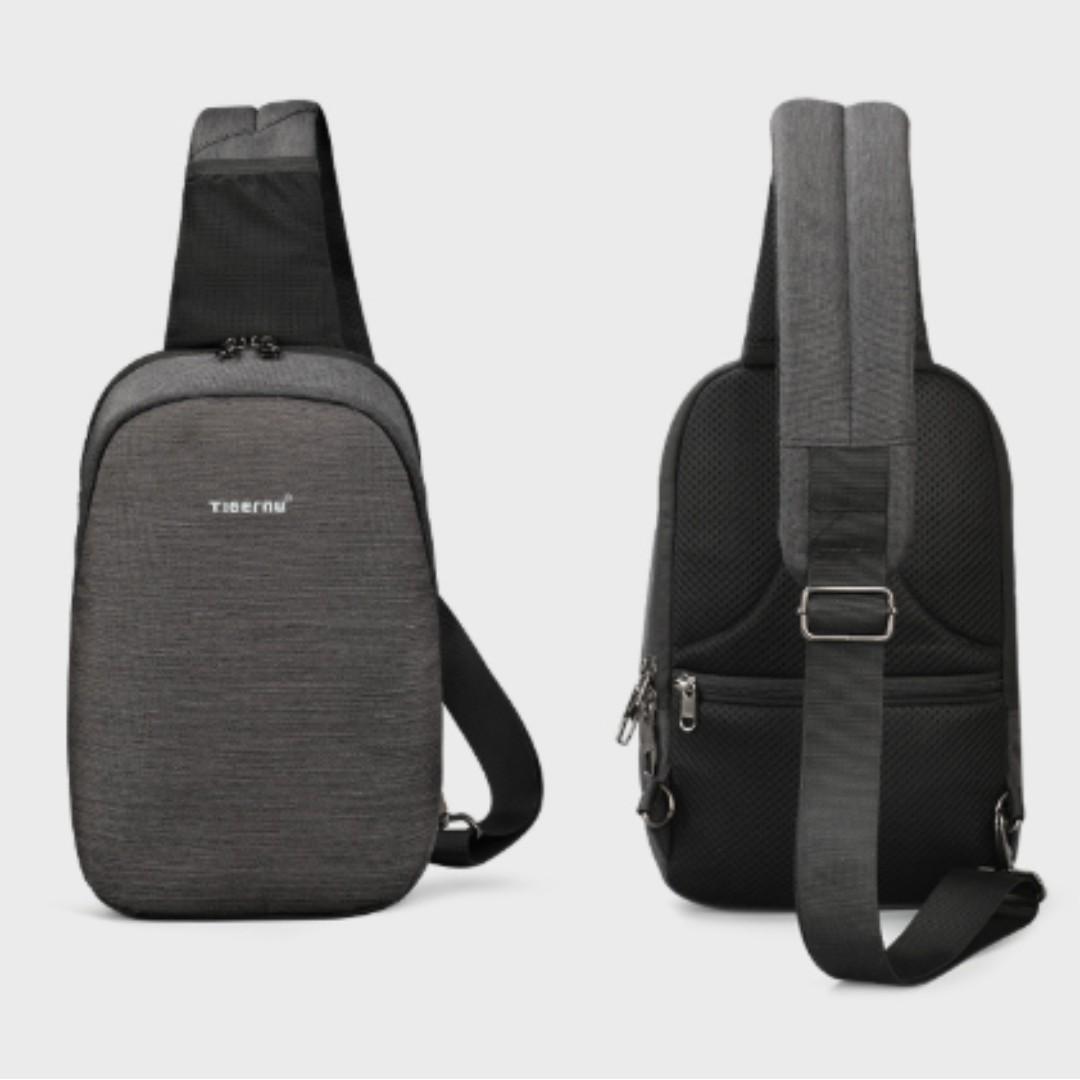 🔥PO🔥 Tigenu Men Chest Bag Anti Theft Crossbody Bag Travel Pouch #MRTJurongEast #Style