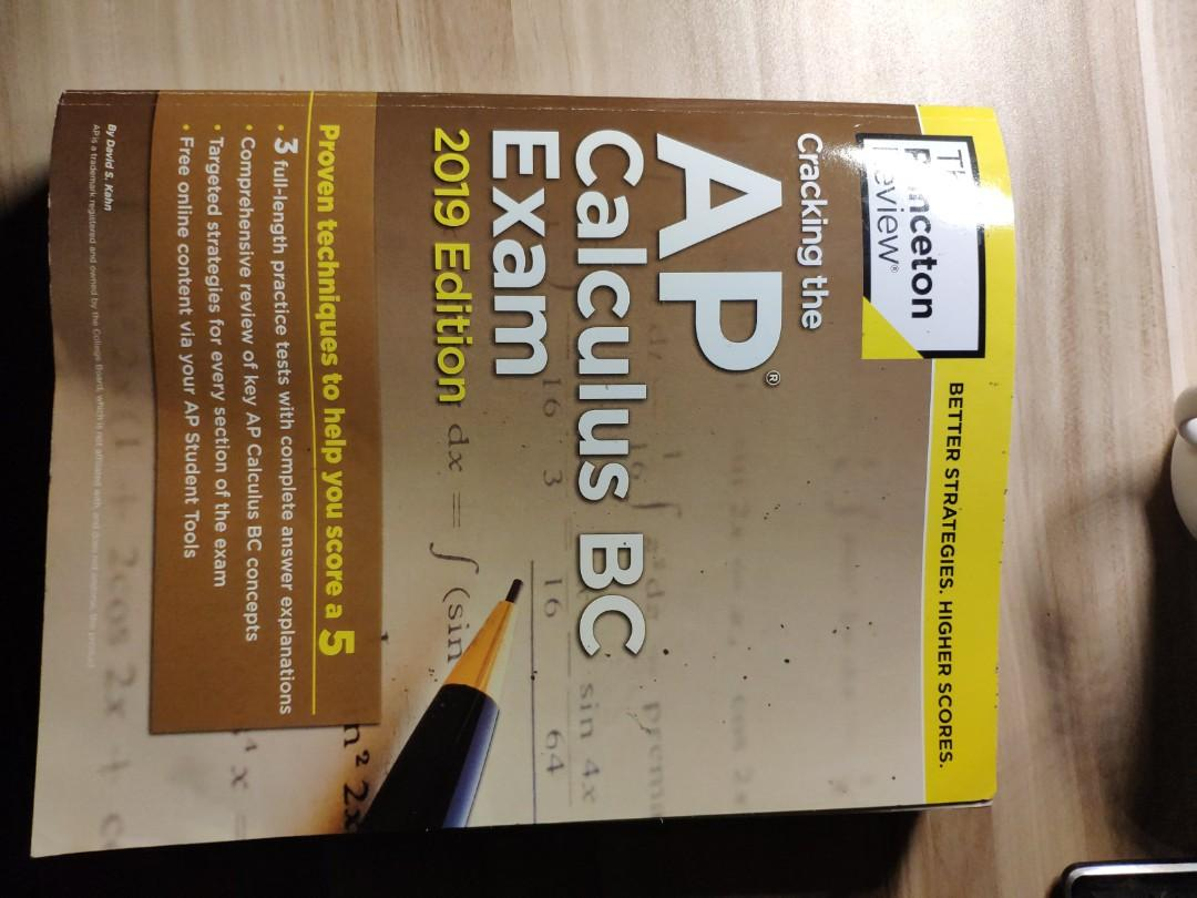 Princeton Review AP Calculus BC 2019, Books & Stationery