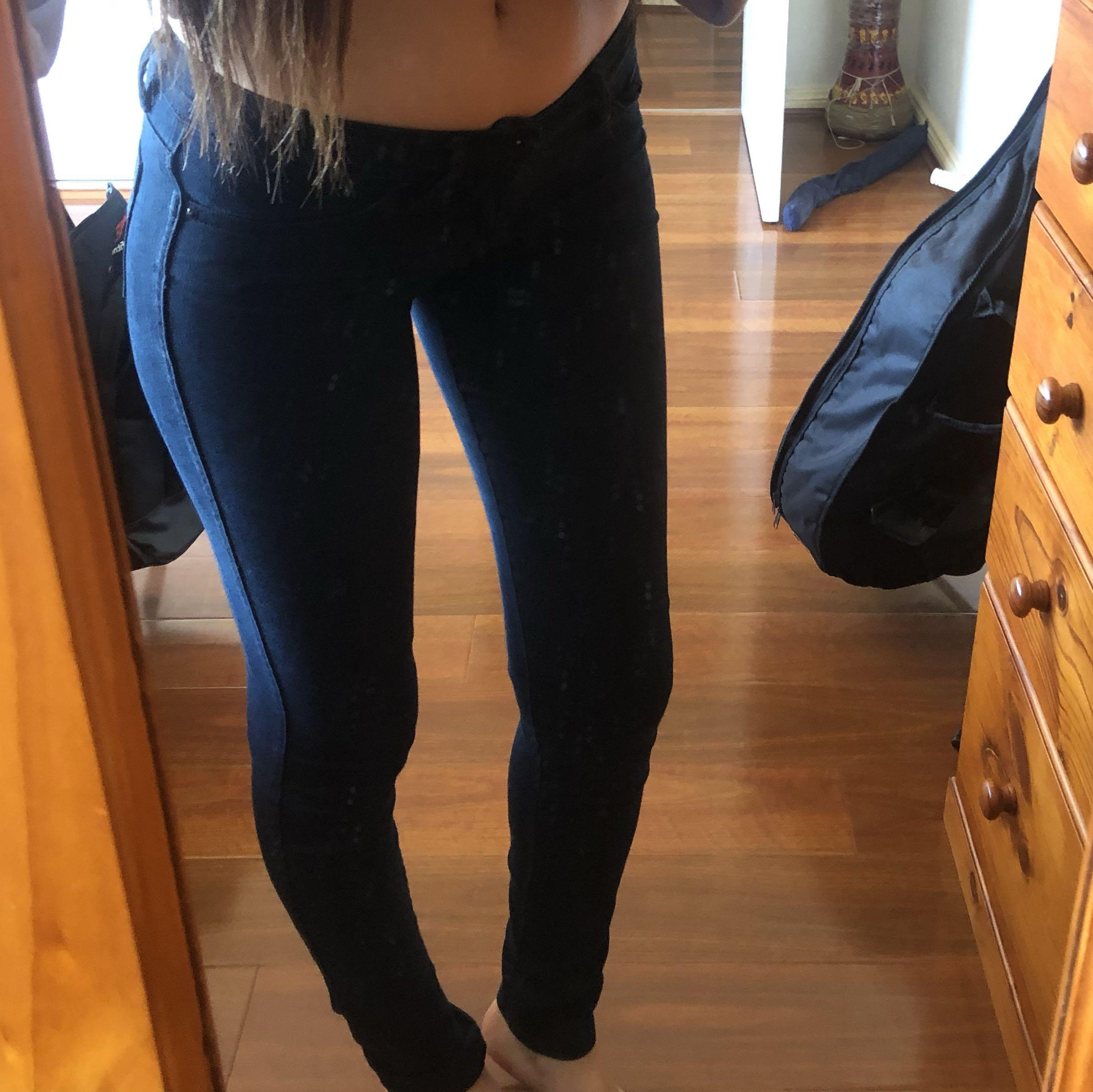 RIDERS bumpster low rise dark deep blue denim jeans