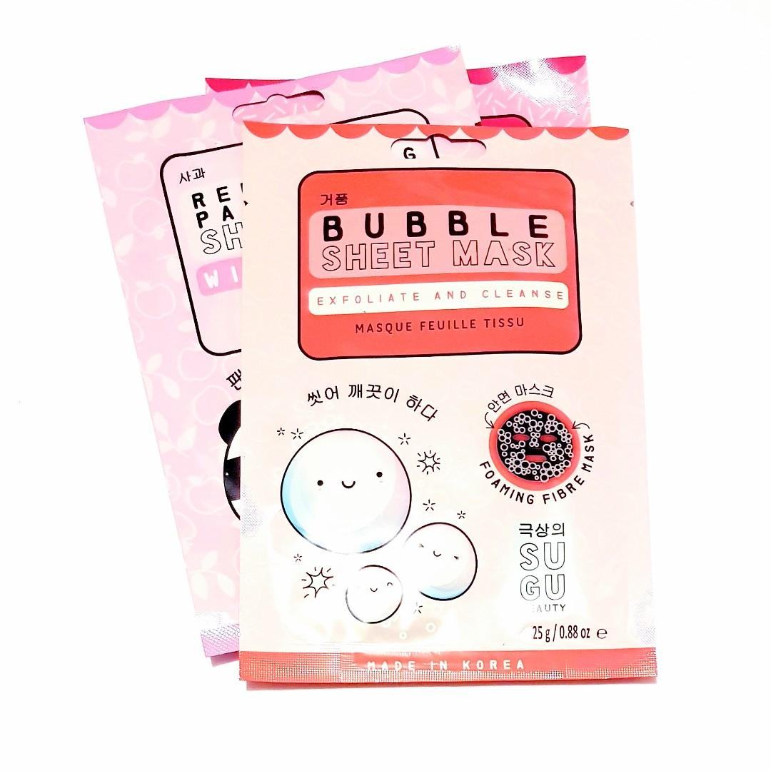 Sugu Beauty Bubble Exfoliate and Cleanse Foaming Fibre Face Beauty Facial Masque Korean Sheet Mask