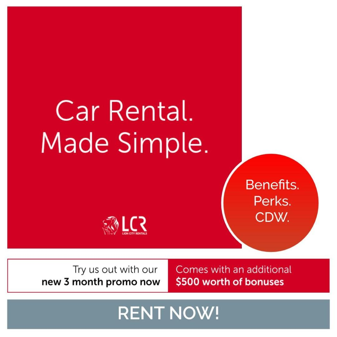 Toyota Altis available for rent for as low as @ $64.20/day!