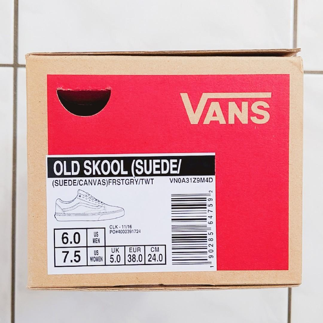 VANS Shoes - Old Skool (Suede/Canvas) Frst Gry/True White