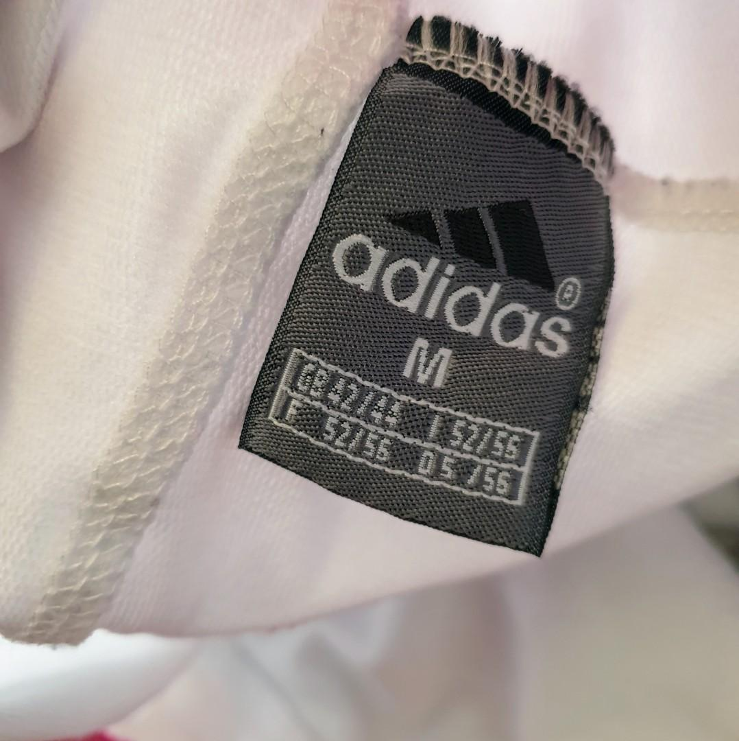 Women's size M 'ADIDAS' Gorgeous white with pink logo long shorts - AS NEW