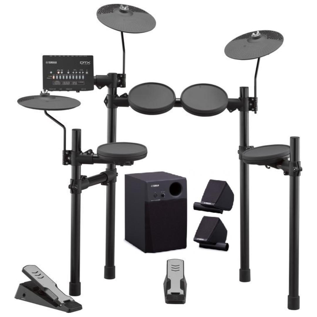 Yamaha DTX402K + MS45DR electronic drum set bundle (in stock, limited time)