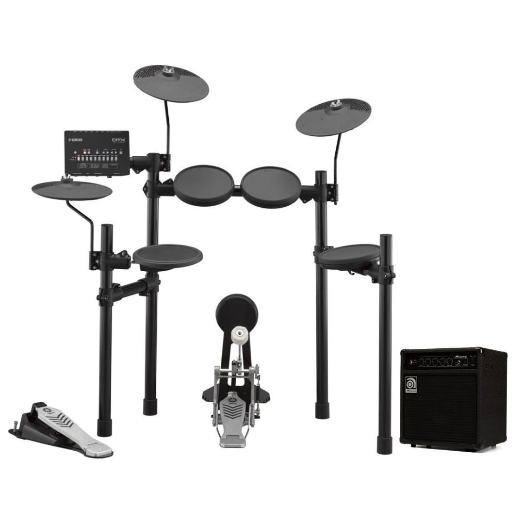 Yamaha DTX452K electronic drumset + Ampeg BA-108 v2 bass amplifier bundle (limited time)