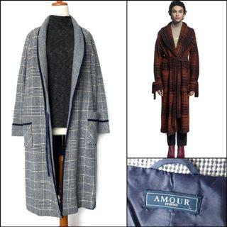 Japan Long Coat / Long wool coat / winter coat / spring coat / autumn coat / coat musim dingin / outerwear / coat korea / coat panjang / outer panjang / mantel kotak-kotak / tartan coat / coat wol