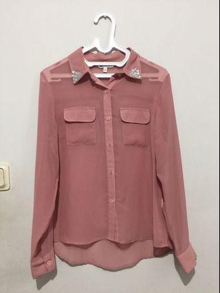 kemeja pink - shirt