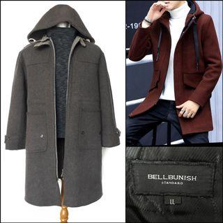 Men Long Coat / Winter Coat Pria / Wool Coat /Coat Wol Cowok