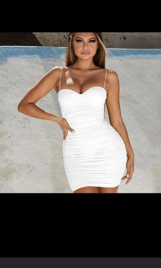 Instock White Bodycon