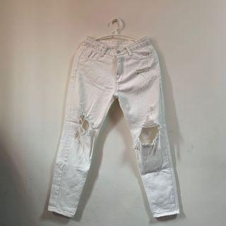 🖇白色破褲