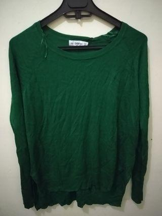 knit wear green