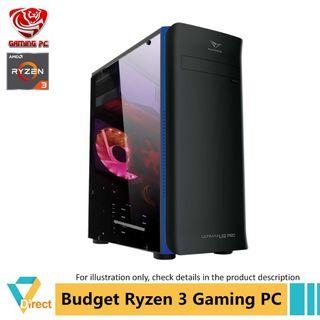 Newest Gen 3 Ryzen 3 3200G budget business gaming PC up to 32GB RAM 480GB SSD for Apex Batterfield CSGO Dota 2 Fifa Fort