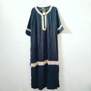 Abaya Hitam Renda Longdress Gamis #LalaMoveCarousell #HBFCarousell Jubah Tops Atasan Pakaian Baju Kaos Outer Kemeja Blouse