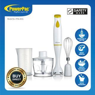 PowerPac 4in1 Green Electric Multifunction Hand Blender Set (PPBL383G)