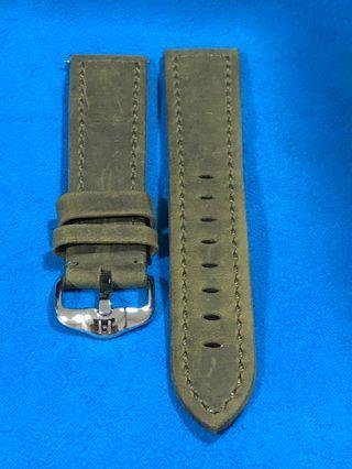 Hirsch Artisan Leather Green 20mm.