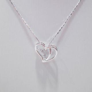 Heart Shape Pave Diamond Pendant