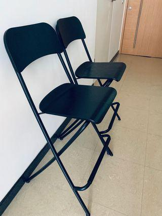 🚚 Bar stools (x2) seat height 63 cm