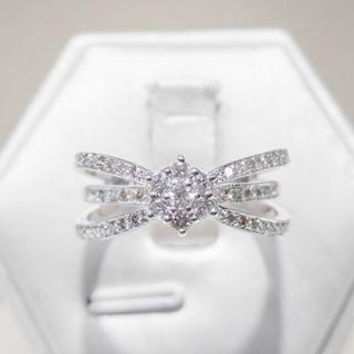 Triple Band Floral Diamond Ring