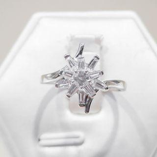 Floral Burst Diamond Ring