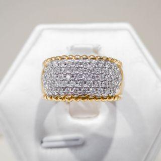 Yellow Gold Multi Pave Diamond Ring