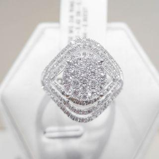 Patterned Pave Multi Diamond Ring