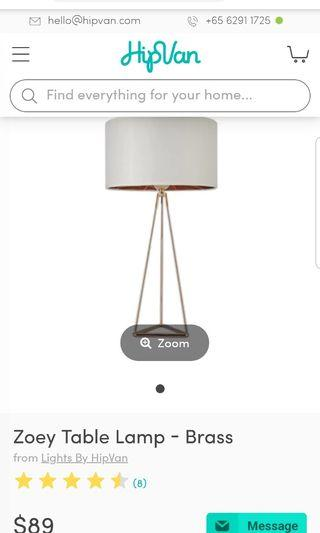Zoey Table Lamp Brass