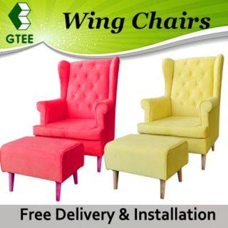 Beauty Wing Chair with Stool
