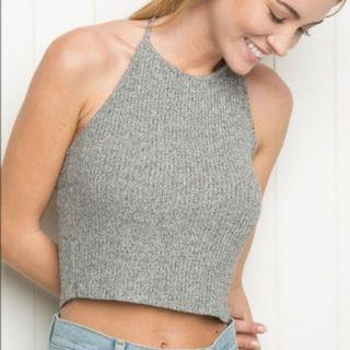 Brandy Melville Ribbed Knitted Halter Top