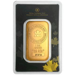 🚚 [NEW] [SEALED]Royal Canadian Mint Gold Bar 1 Troy Oz (31.1g)