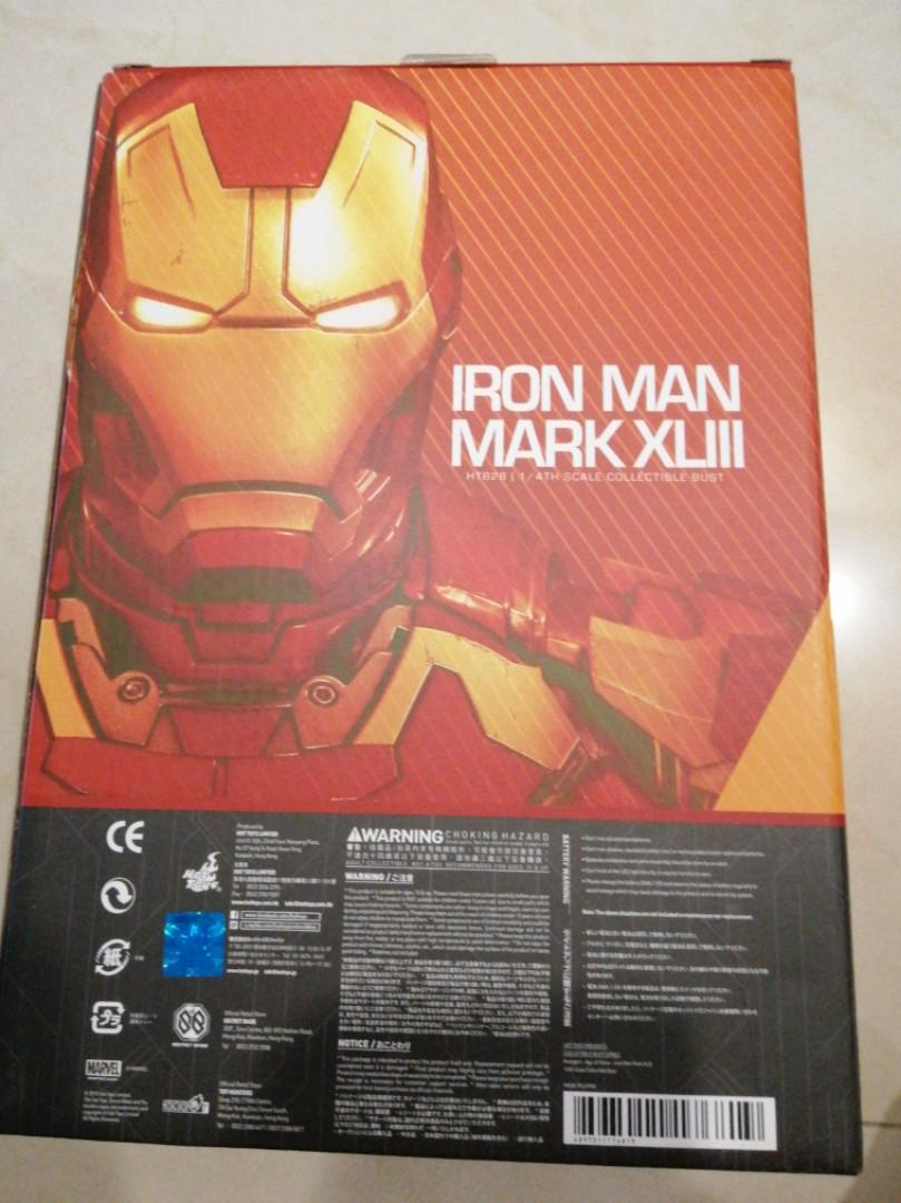 1/4 scale iron man mark xlii hot toy