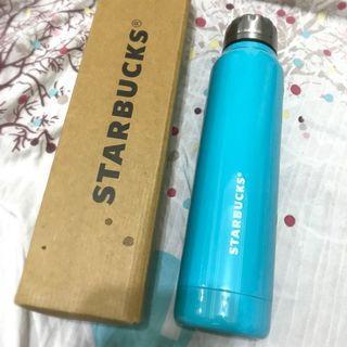 星巴克270ml藍不鏽鋼保溫水瓶Starbucks