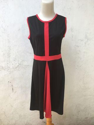 Tanktop Dress Hitam Merah
