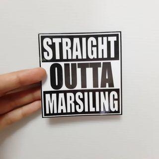 STRAIGHT OUTTA MARSILING vinyl sticker