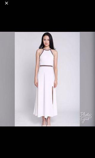 Mds maxi white dress