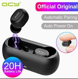 (Stock 22 Aug-last pc) Xiaomi QCY bluetooth 5.0 TWS rechargeable earphones we