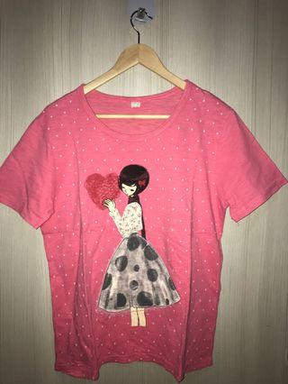 [WOMEN] TSHIRT IN PINK FREE SIZE