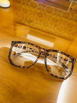 豹紋眼鏡(鏡片可拆)
