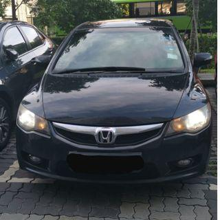 Honda Civic 1.8L (Low mileage) for Rent (PHV Ready)