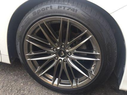 19 rim front rear 9.5jj with tyre Like new 1 week Condition