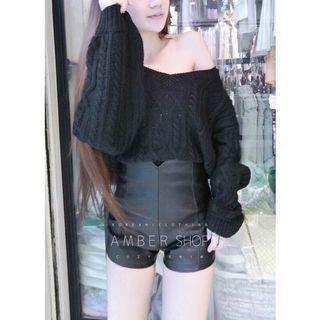 初秋愜意法式厚針織毛衣