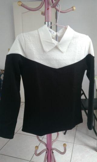 學院風 長袖 薄針織 毛衣
